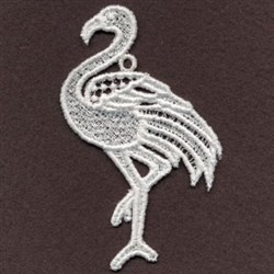 FSL Flamingo Head Up embroidery design