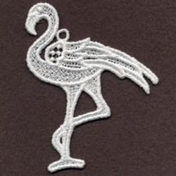 FSL Flamingo Walking embroidery design