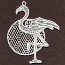 FSL Flamingo Circle embroidery design
