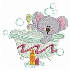Bath Time Koala embroidery design