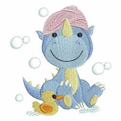 Bath Time Dinosaur embroidery design