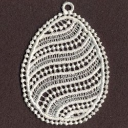 FSL Striped Easter Egg embroidery design