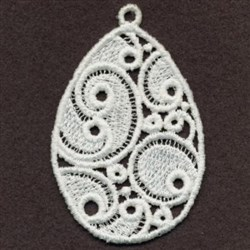 FSL Swirly Easter Egg embroidery design