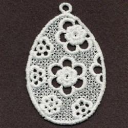 FSL Floral Easter Egg embroidery design