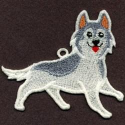 FSL Siberian Husky embroidery design