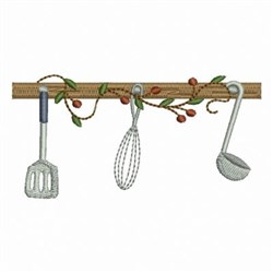 Country Kitchen Utensils embroidery design
