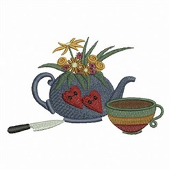 Floral Country Kitchen embroidery design