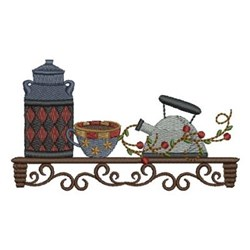 Country Kitchen Shelf embroidery design