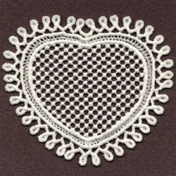 FSL Sweet Swirly Heart embroidery design