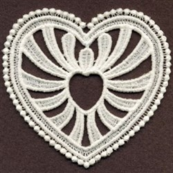 FSL Sweet White Heart embroidery design