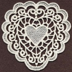 FSL Sweet Heart Ornament embroidery design