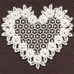 FSL Sweet Floral Heart embroidery design