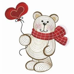 Valentine Teddy & Balloon embroidery design