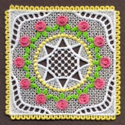 FSL Roses & Star Doily embroidery design