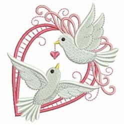 Valentine Doves & Heart embroidery design