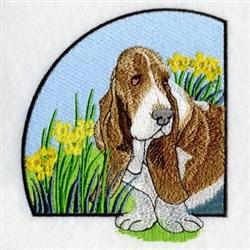 Basset Hound embroidery design