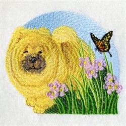 Chow Chow embroidery design