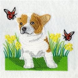 Cardigan Welsh Corgi embroidery design