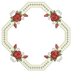 Red Roses Frame embroidery design
