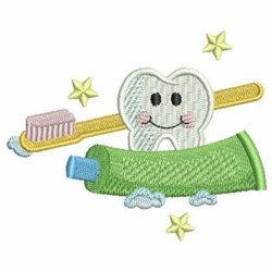 Tooth & Paste embroidery design