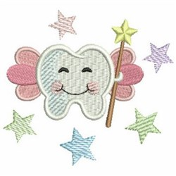 Tooth Fairy & Wand embroidery design