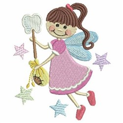 Tooth Fairy Stars embroidery design