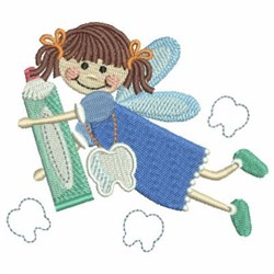 Tooth Fairy & Paste embroidery design