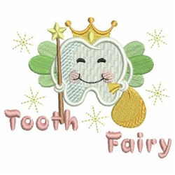Tooth Fairy & Crown embroidery design