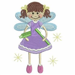 Tooth Fairy & Brush embroidery design