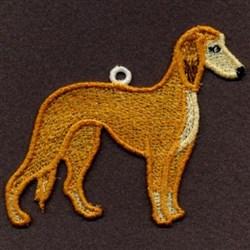 FSL Saluki embroidery design
