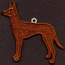 FSL Pharaoh Hound embroidery design