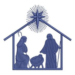 Nativity Manger Silhouette embroidery design