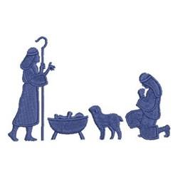 Nativity Prayer Silhouette embroidery design