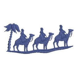 Nativity Kings Silhouette embroidery design