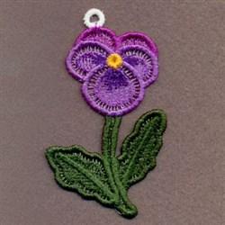 FSL Purple Pansy embroidery design