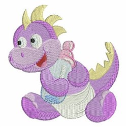 Purple Baby Dinosaur embroidery design