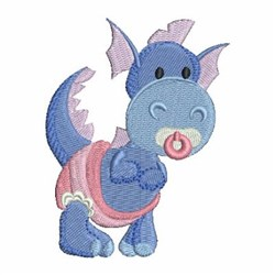 Blue Baby Dinosaur embroidery design