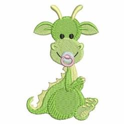 Green Baby Dinosaur embroidery design