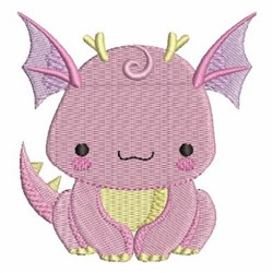 Pink Baby Dinosaur embroidery design