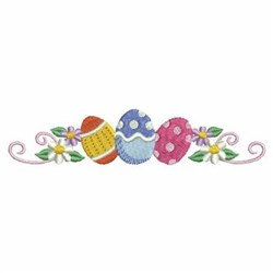 Easter Eggs Border embroidery design
