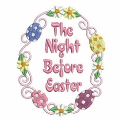 Floral Easter Eggs embroidery design