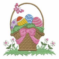 Easter Eggs & Basket embroidery design