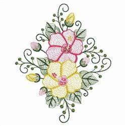 Rippled Hibiscus Diamond embroidery design