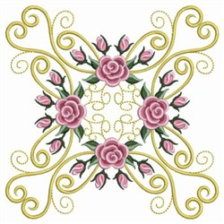 Pearl Roses Hearts embroidery design