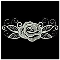 Whitework Rose Border embroidery design