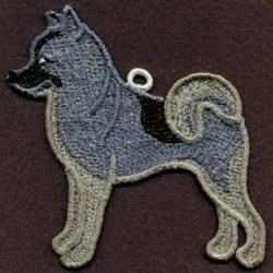 FSL Norwegian Elkhound embroidery design