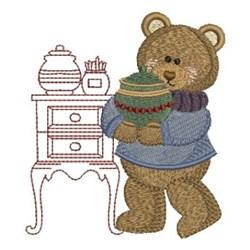 Kitchen Bear & Pot embroidery design