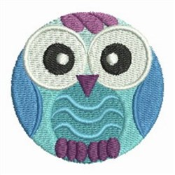 Round Owl embroidery design