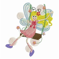 Swing Fairy embroidery design