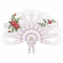 Rippled Floral Fans embroidery design